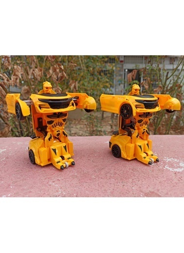 RoseRoi Bumblebee Transformers Oyuncak Robota Dönüşebilen Çekbırak Araba Renkli